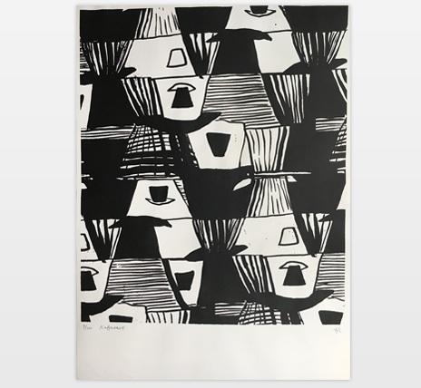 Hand Printed Poster